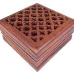 Caja de madera tallada - para joyas, recuerdos, cartas de tarot, popurrí o dijes 5